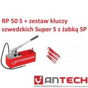 Pompa kontrolna RP 50 S + zestaw kluczy szwedzkich Super S z żabką SP.